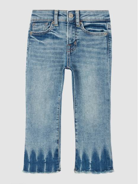 Kids High-Rise Flare Cropped Jeans with Stretch