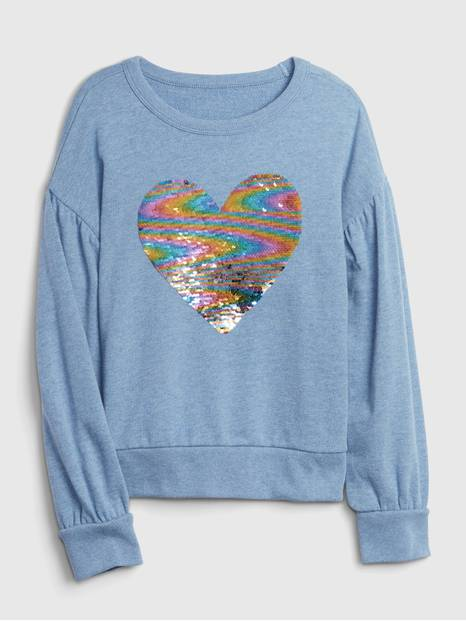 Kids Flippy Sequin Crewneck Sweatshirt