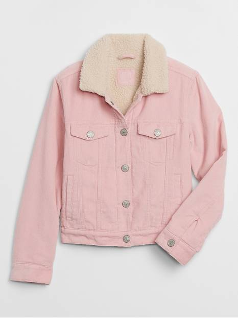 Kids Cord Pink Icon Jacket