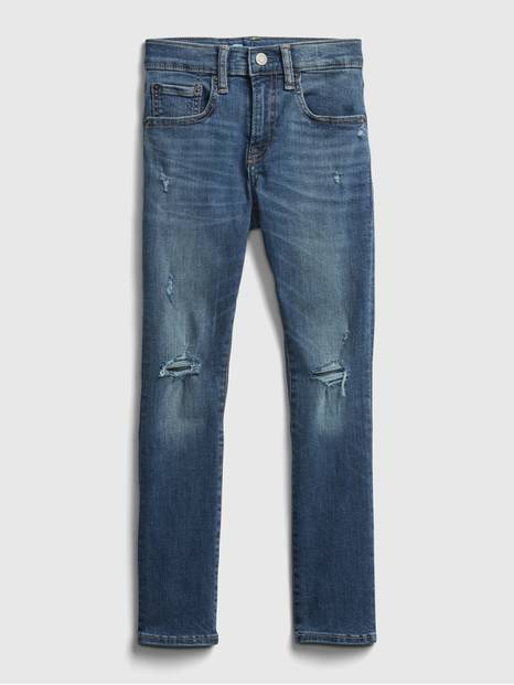 Kids Destructed Super Skinny Jeans with Max Stretch