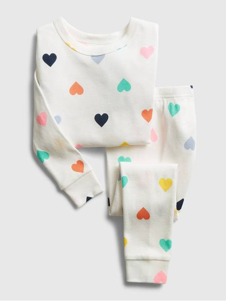 babyGap Heart Graphic PJ Set