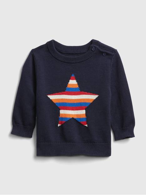 babyGap Graphic Crewneck Sweater
