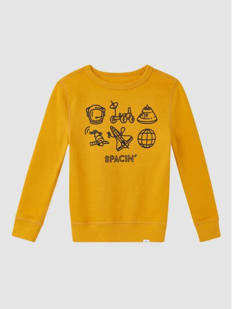 Kids Recycled Graphic Crewneck Sweatshirt