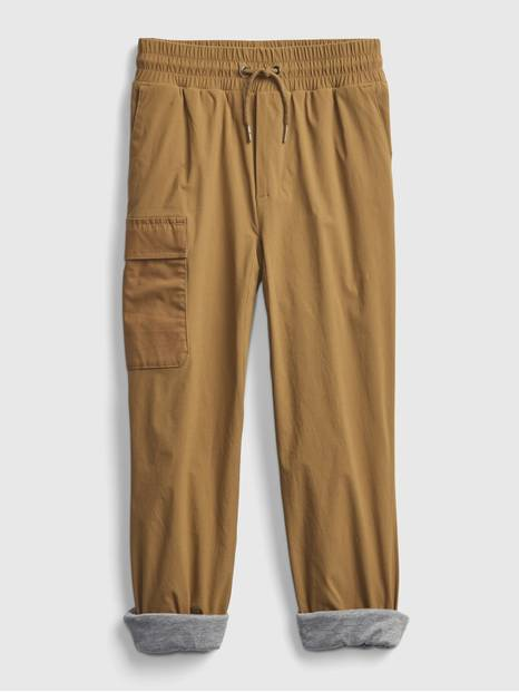 Kids Lined Hybrid Pull-On Pants with QuickDry
