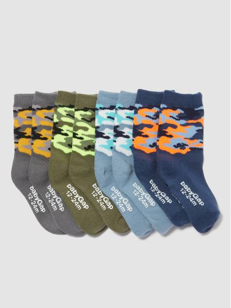 Toddler Camo Crew Socks (4-Pack)