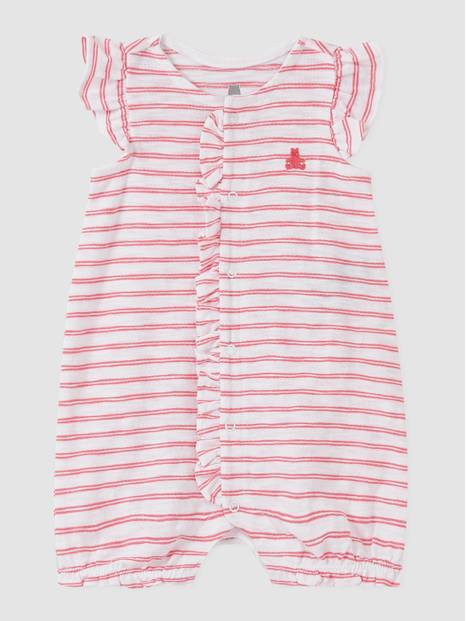 Baby Stripe Ruffle Shorty One-Piece