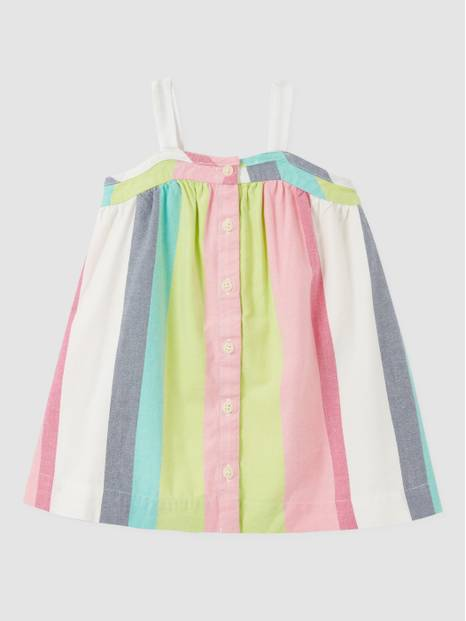 Baby Stripe Button Dress