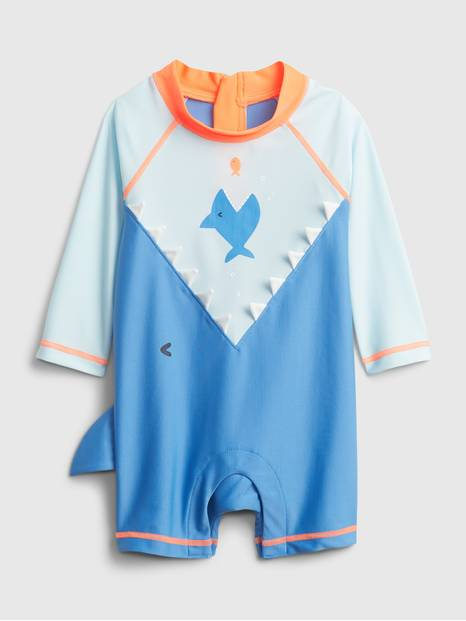 Baby Recycled 3D Shark Swim One-Piece