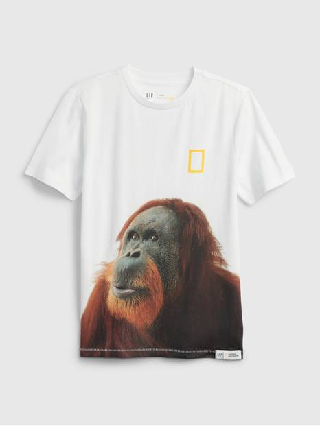 GapKids &#124 National Geographic Photo Ark 100% Organic Cotton Graphic T-Shirt