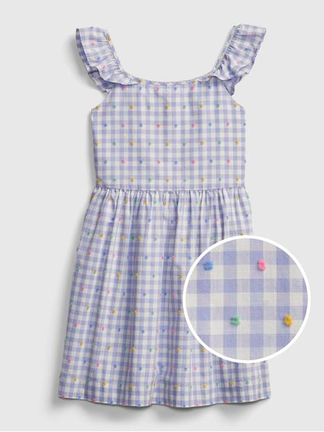 Kids Gingham Print Dress