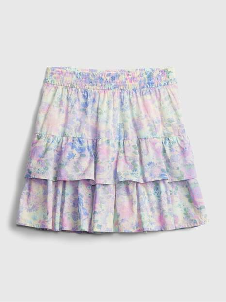 Kids Tiered Watercolor Skirt
