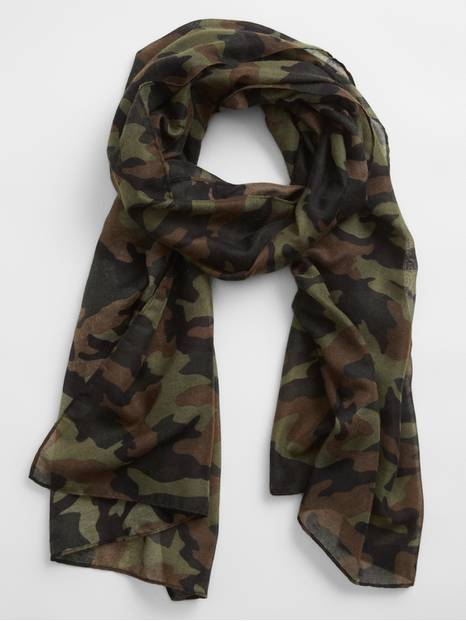 Print Oblong Scarf