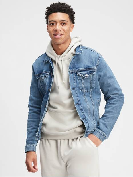 Icon Denim Jacket with GapFlex
