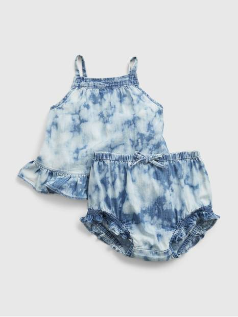 Baby Tie-Dye Denim Outfit Set