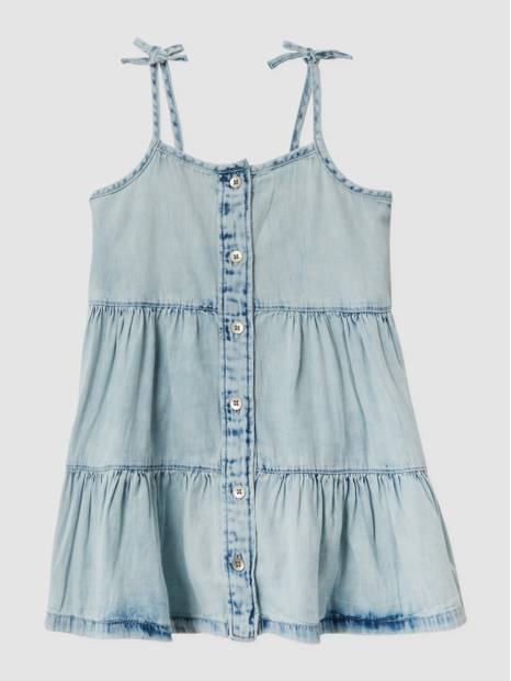 Toddler Denim Tiered Dress