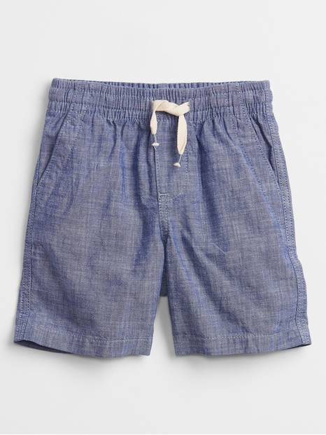 Toddler Chambray Pull-On Shorts