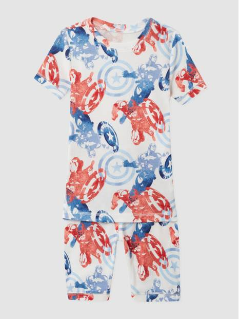 GapKids &#124 Marvel Captain America 100% Organic Cotton PJ Set
